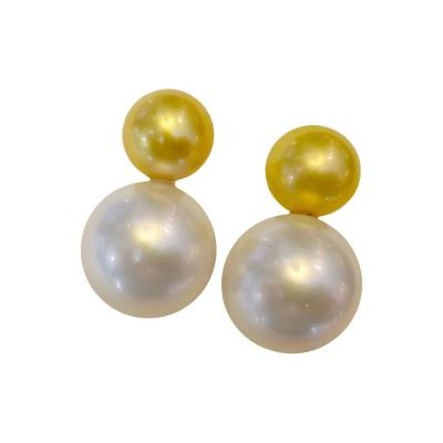 Michael Kneebone Michael Kneebone Golden and White South Seas Pearl Earrings