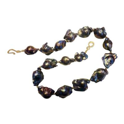 Michael Kneebone Michael Kneebone Gray Black Baroque Cultured Pearl Necklace