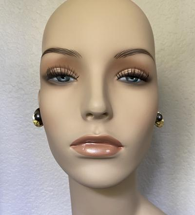 Michael Kneebone Michael Kneebone Gray Tahitian Pearl 18k Yellow Gold Button Earrings