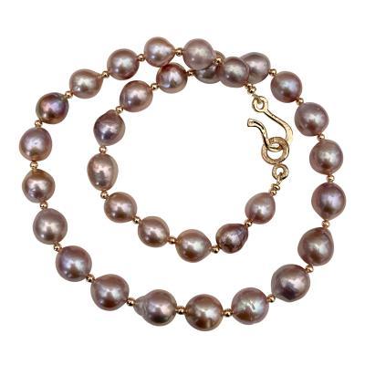 Michael Kneebone Michael Kneebone Lavender Baroque Pearl Necklace