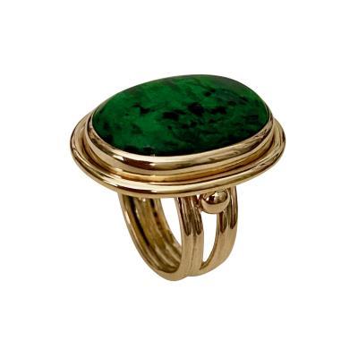 Michael Kneebone Michael Kneebone Maw Sit Sit Jade Archaic Style Ring