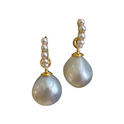 Michael Kneebone Michael Kneebone Paspaley South Seas Pearl Huggie Style Dangle Earrings