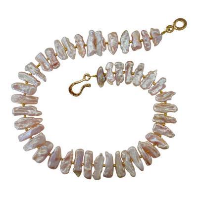 Michael Kneebone Michael Kneebone Pink Freshwater Stick Pearl Necklace