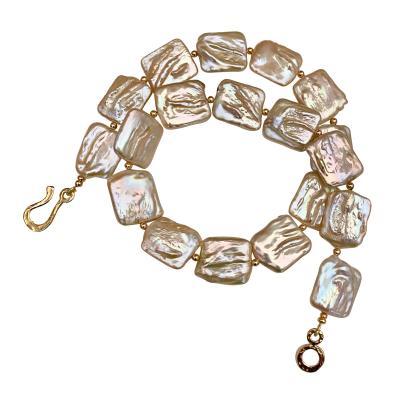 Michael Kneebone Michael Kneebone Pink Tile Pearl Necklace