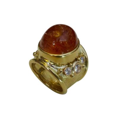 Michael Kneebone Michael Kneebone Precious Topaz White Diamond Bombe Ring