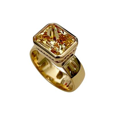 Michael Kneebone Michael Kneebone Radiant Cut Yellow Sapphire 18k Gold Leah Ring