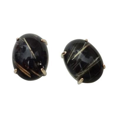 Michael Kneebone Michael Kneebone Rutilated Quartz Stud Earrings