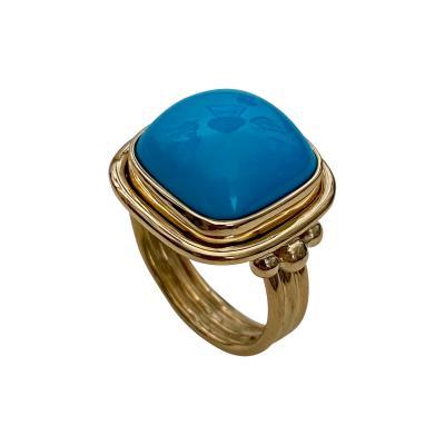 Michael Kneebone Michael Kneebone Sleeping Beauty Turquoise Archaic Style Ring