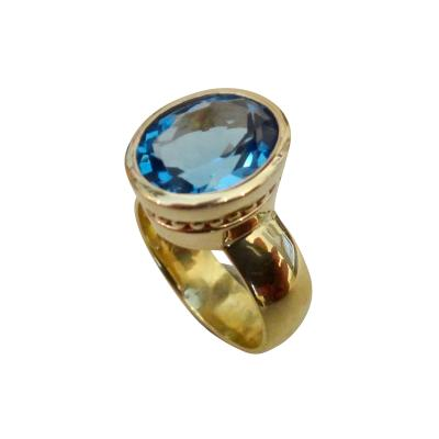 Michael Kneebone Michael Kneebone Swiss Blue Topaz 18k Gold Leah Ring