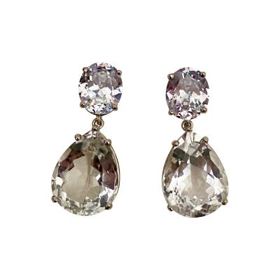 Michael Kneebone Michael Kneebone White Sapphire White Topaz Dangle Earrings