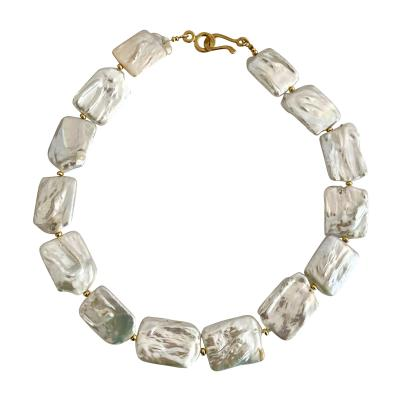 Michael Kneebone Michael Kneebone White Tile Baroque Pearl Bead Necklace