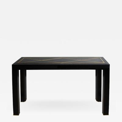Michael Laut Black Cobra Skin Console Table by Michael Laut