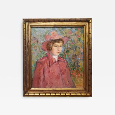 Michael Lemmermeyer Impressionist Portrait Painting of a Woman In Red