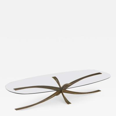 Michael Mangmatin Michel Mangmatin Bronze Star Coffee Table