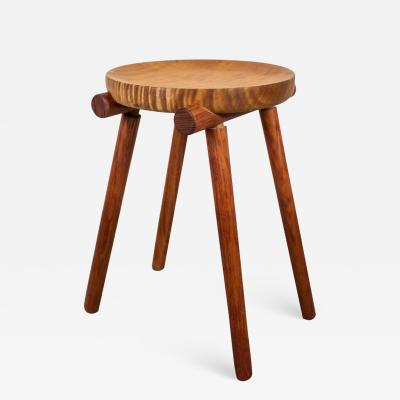 Michael Rozell 1 of 2 Studio Stools by Michael Rozell in Silk Wood and Bubinga