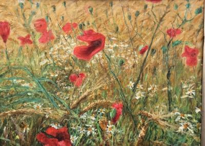 Michael Strang Poppies And Barley