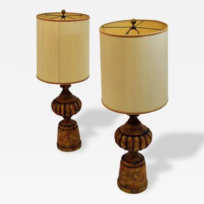 Michael Taylor Mid Century Modern Pair Of Michael Taylor for Chapman Table Lamps