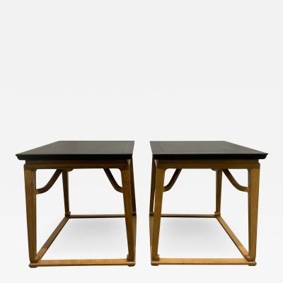Michael Taylor Pair of End Tables by Michael Taylor for Baker