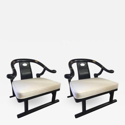 Michael Taylor Pair of Michael Taylor East West Early Club Chairs