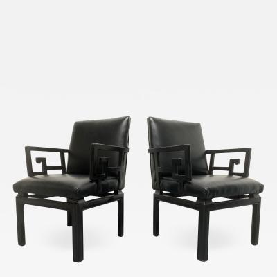 Michael Taylor Pair of Michael Taylor for Baker Arm Chairs