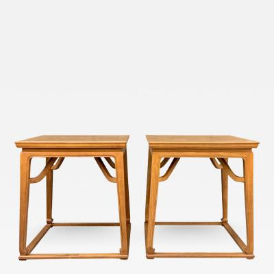 Michael Taylor Pair of Walnut End Tables by Michael Taylor for Baker