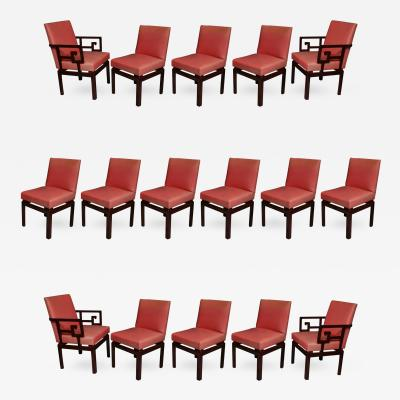 Michael Taylor Set Of 16 American Modern Mahogany Far East Dining Chairs Michael  Taylor