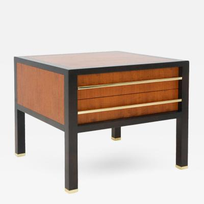 Michael Taylor Two Drawer Side Table by Michael Taylor