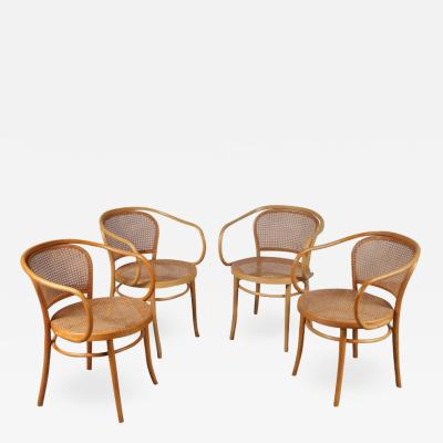 Michael Thonet Set of Four Corbusier Armchairs by Michael Thonet Germany 1920