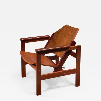 Michel Arnoult Michel Arnoult wooden armchair Brazil 1950s