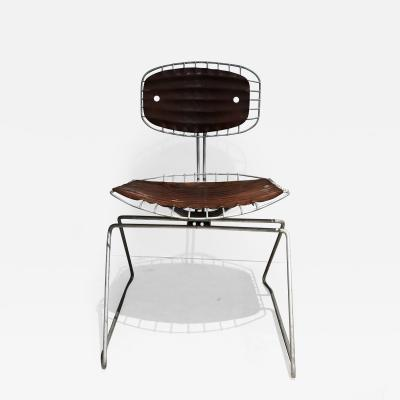 Michel Cadestin Georges Laurent Michel Cadestin Georges Laurent Dark Brown Beaubourg Chair
