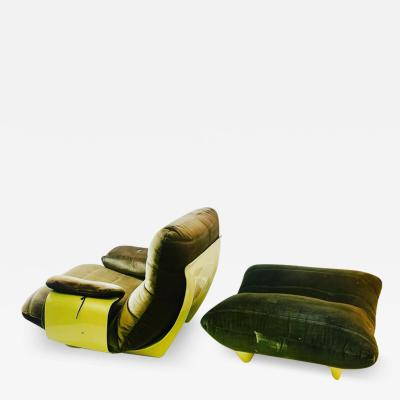 Michel Ducaroy MODERNIST PERSPEX CHAIR AND OTTOMAN BY MICHEL DUCAROY