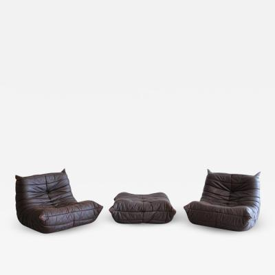 Michel Ducaroy Togo Lounge Chairs and Ottoman by Michel Ducaroy