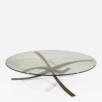 Michel Mangematin Circular Coffee Table