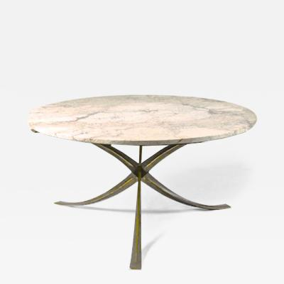 Michel Mangematin Michel Mangematin superb gold bronze and marble dinning table