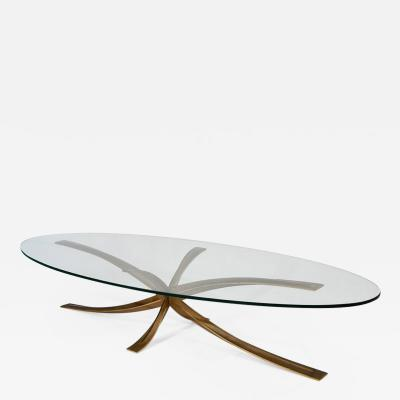 Michel Mangematin Oval coffee table