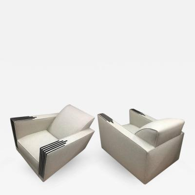 Michel Roux Spitz Roux Spitz Awesome Spectacular Rare Long Pair of Lounge Chairs