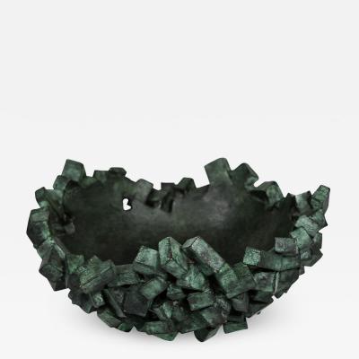 Michele Balestra Green patinated bronze bowl