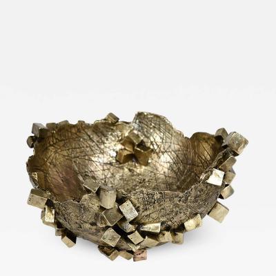 Michele Balestra polished bronze bowl