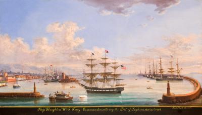 Michele Renault Ship HOUGHTON Entering Leghorn