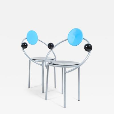Michele de Lucchi Pair of First Chairs for Memphis 1983