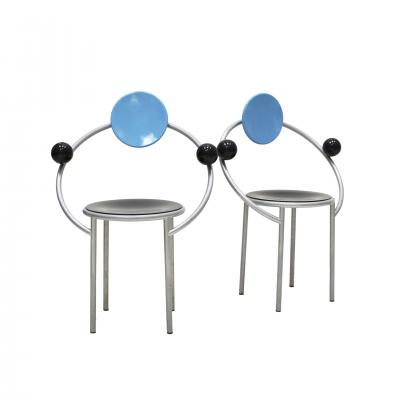 Michele de Lucchi Set of Two Chairs Mod First Designed by Michele de Lucchi for Memphis Milano