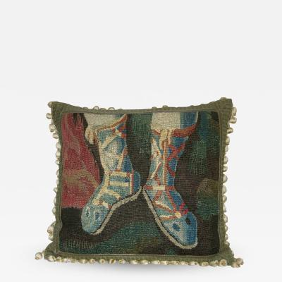 Mid 17th Century Antique Flemish Tapestry Pillow