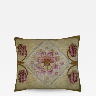 Mid 18th Century Antique French Aubusson Pillow