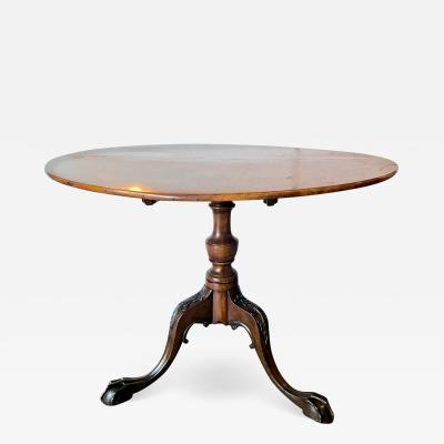Mid 18th c American Tilt top Tea Table