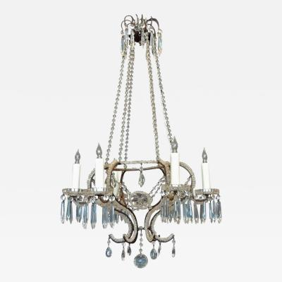 Mid 19th C Italian Crystal Chandelier