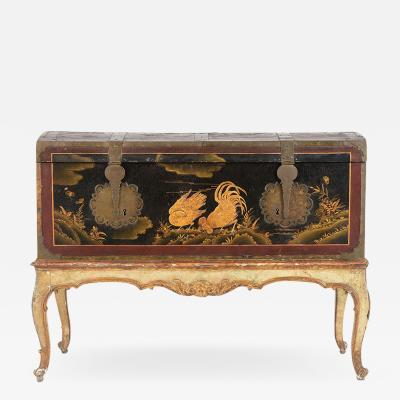 Mid 19th Century Chinoiserie Trunk