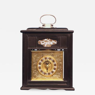 Mid 19th Century Japanese Bracket Clock with Original Case