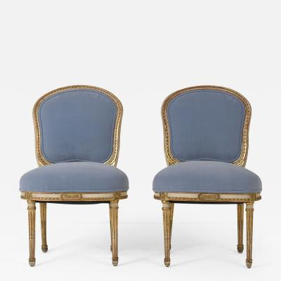 Mid 19th Century Pair of Louis XVI style Side Chairs