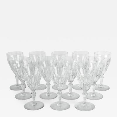 Mid 20th Century Baccarat Crystal Glassware Set