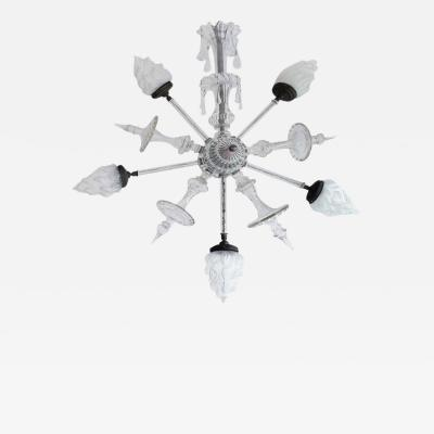 Mid 20th Century Classical Cut Glass Star Pendant Fixture